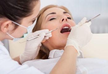 Sedated patient receiving dental care