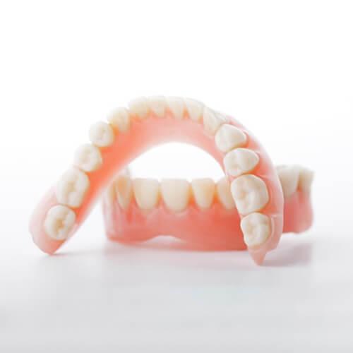 A set of complete dentures