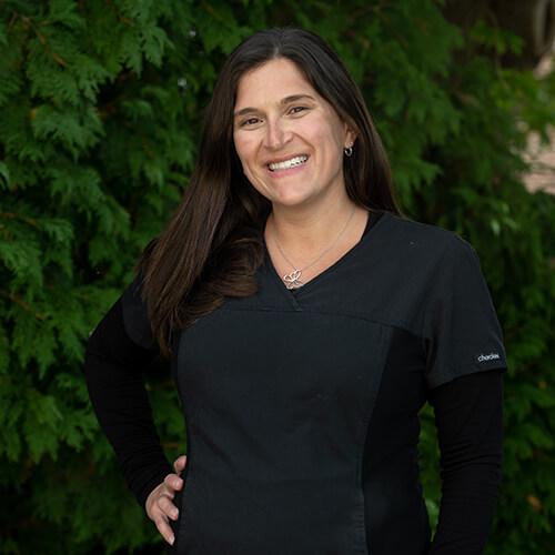 Portrait of Maria, a dental hygienist